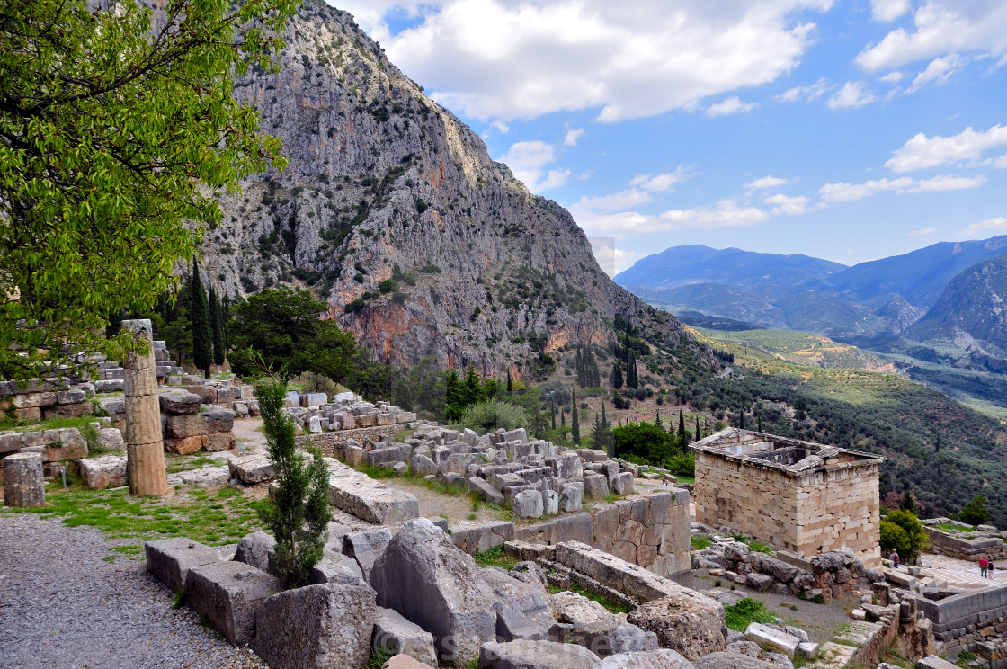 Delphi ruins in greece - License, download or print for