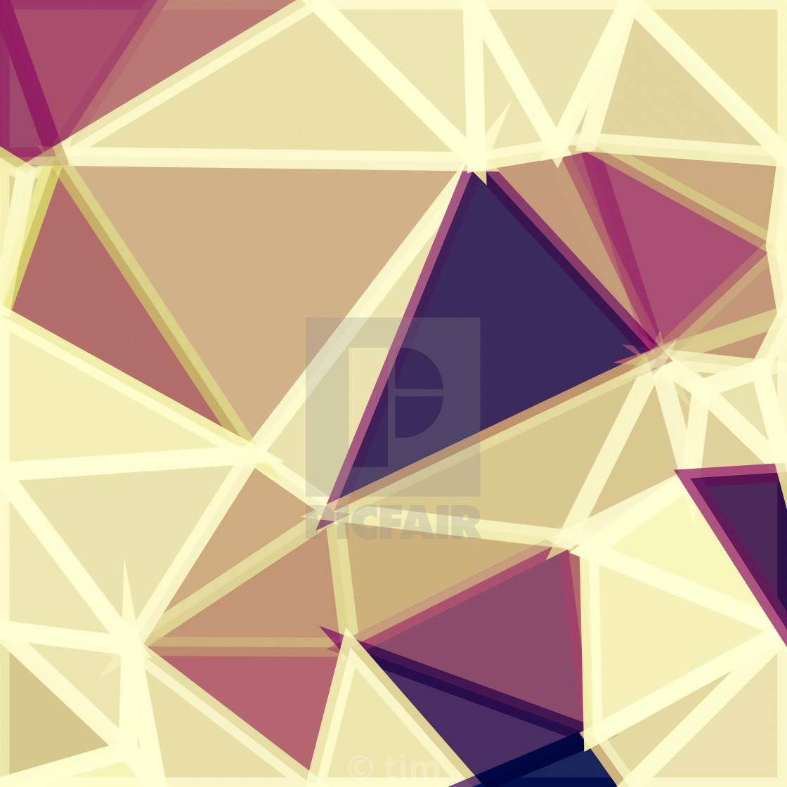 geometric triangle polygon pattern abstract in brown and red