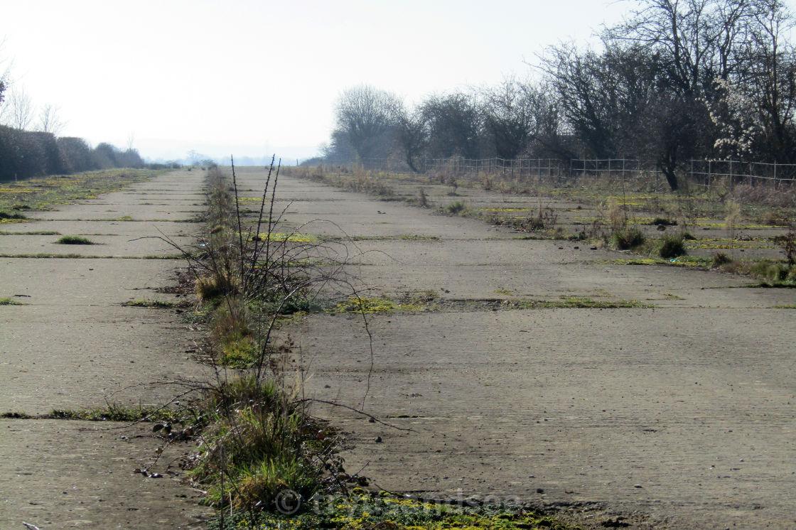 Disused runway at RAF Broadwell