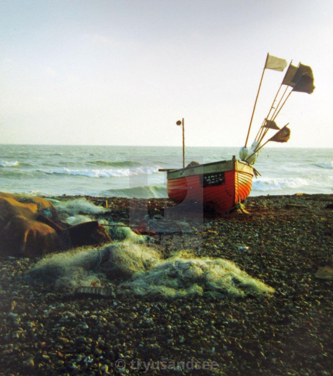 Fishing boat onshore