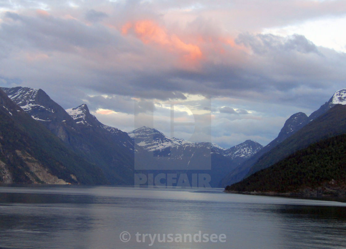 Stranda, Norway mountain & fjord views