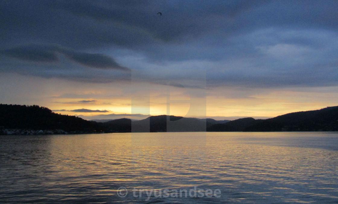 Sunset at Brevik, Norway
