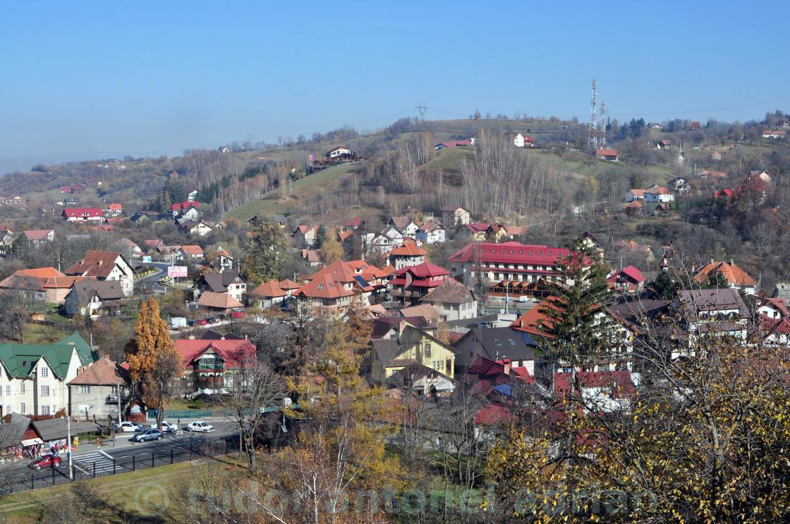 """""""bran village"""" stock image"""