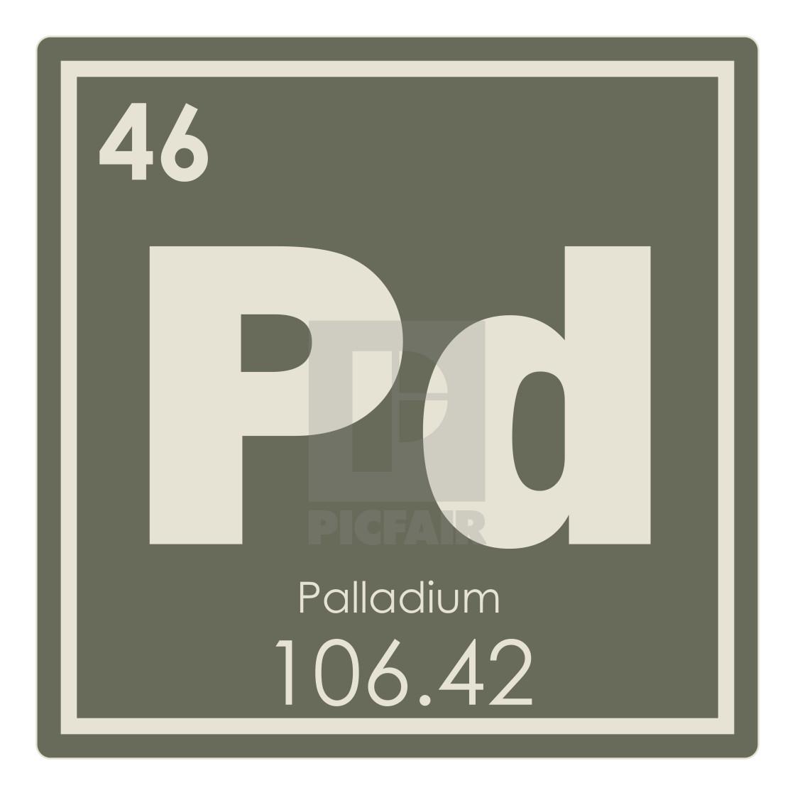 Palladium Chemical Element License For 744 On Picfair