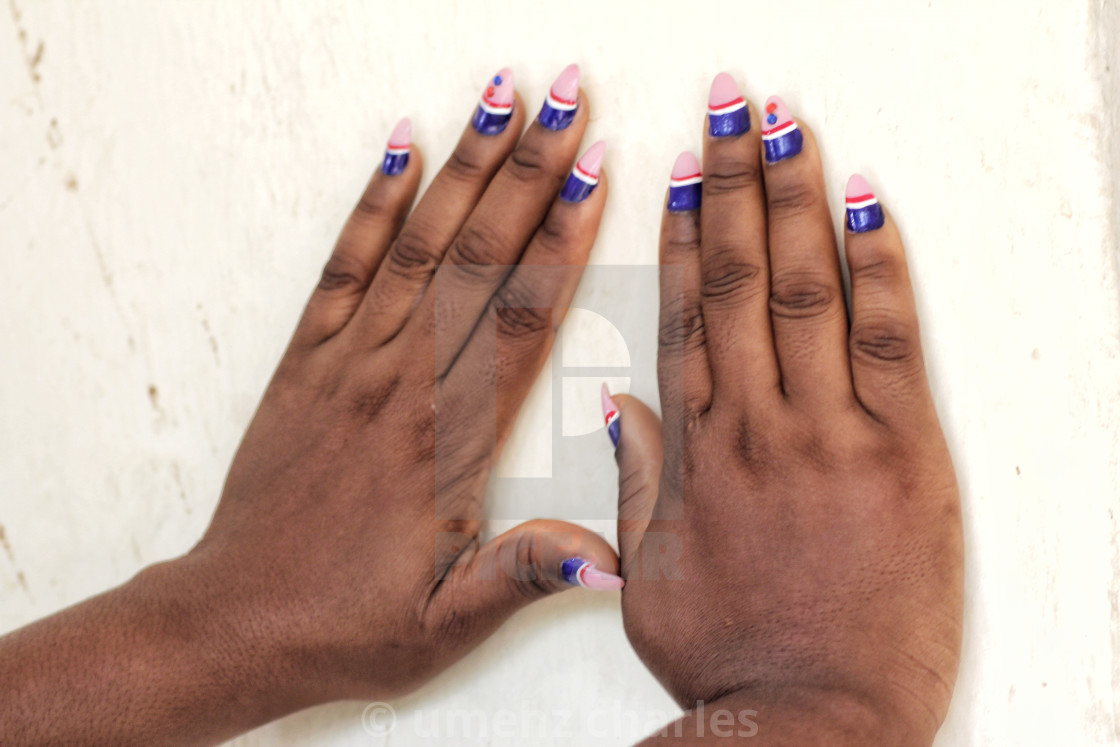 """beautiful fingernails"" stock image"