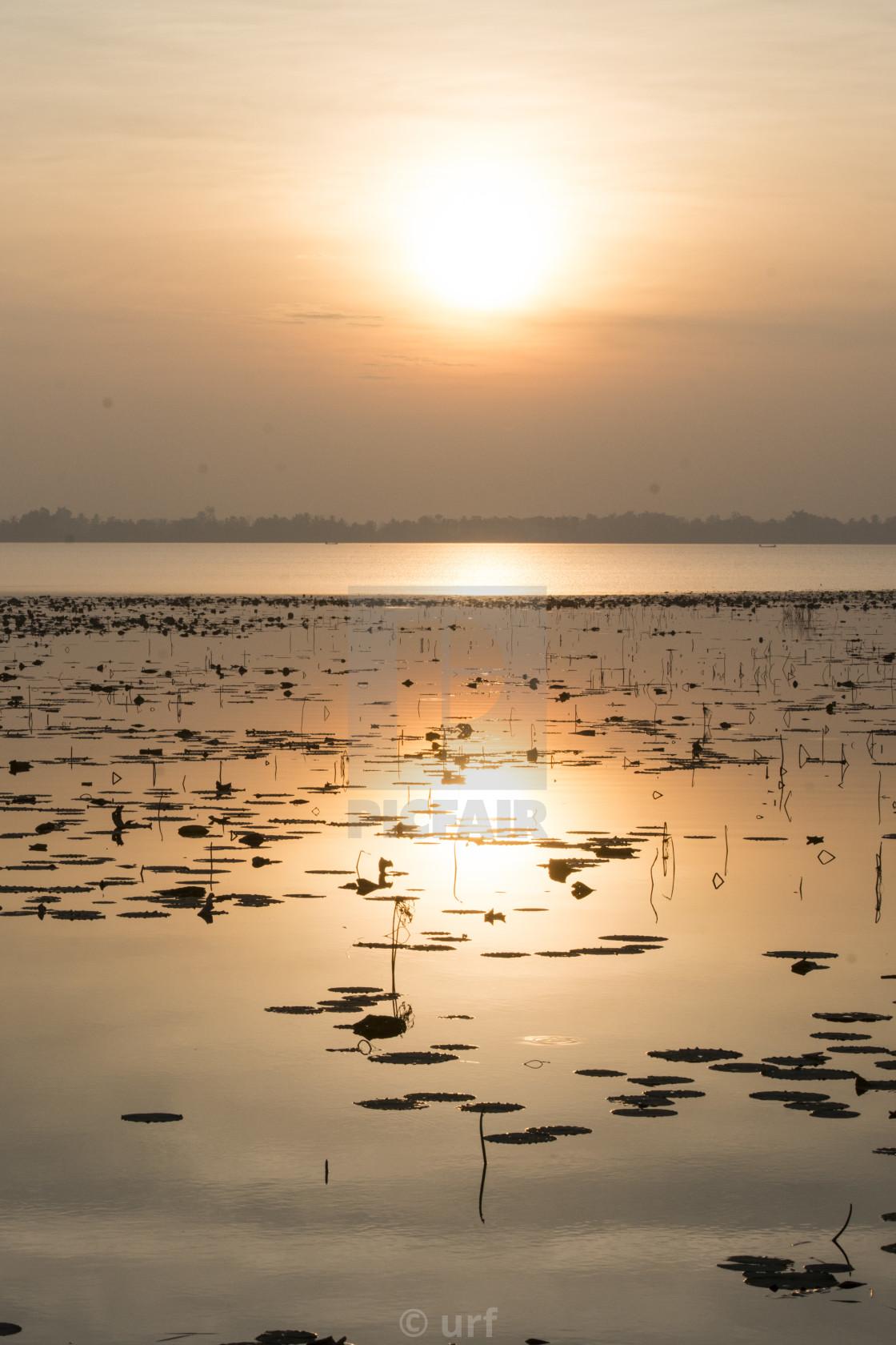 """THAILAND BURIRAM LAKE HUA TALAT RESERVOIR"" stock image"