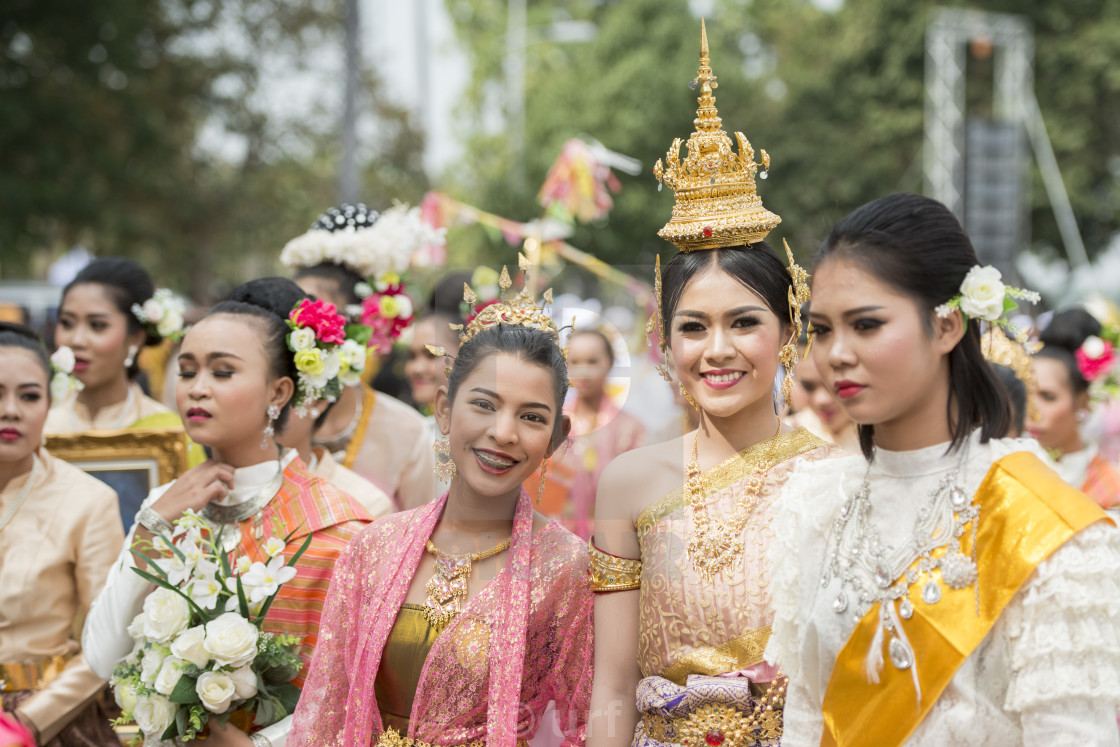 """THAILAND BURIRAM SATUEK TRADITION THAI DANCE"" stock image"