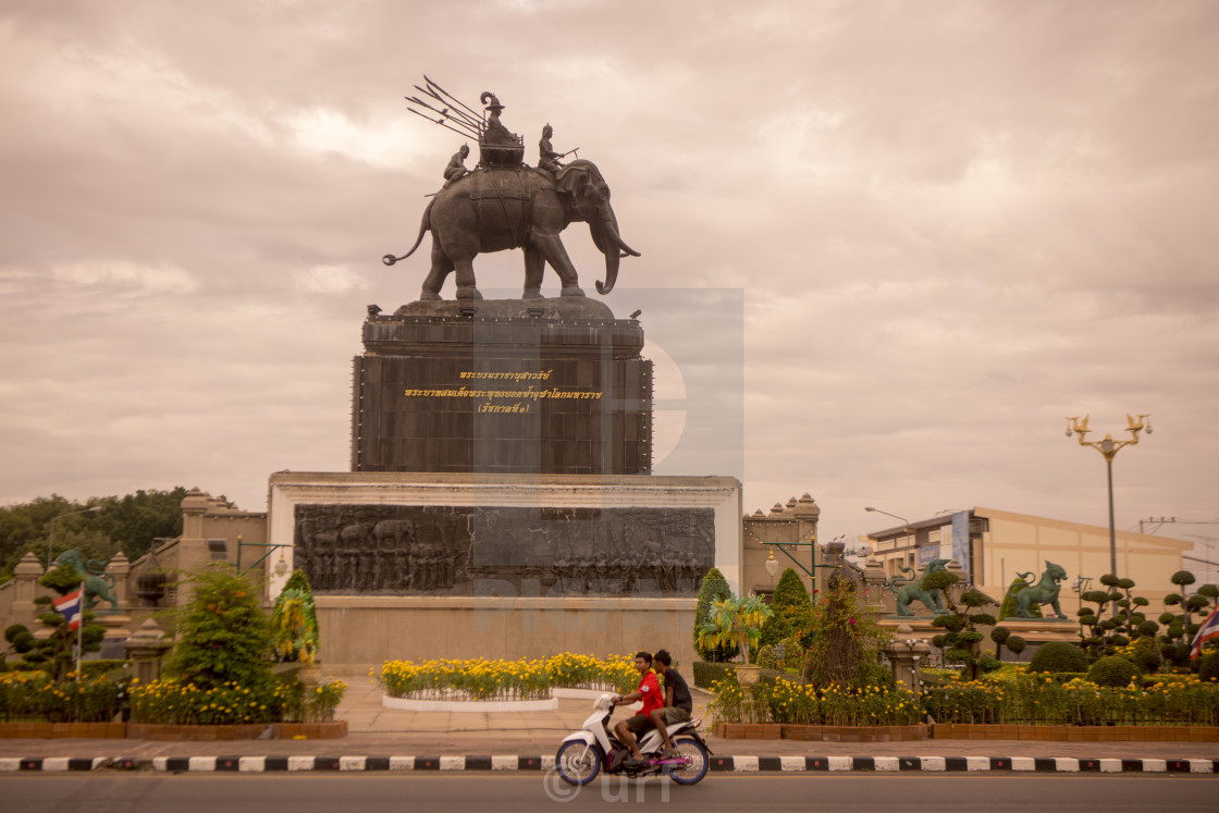 """THAILAND BURIRAM CITY RAMA 1 MONUMENT"" stock image"