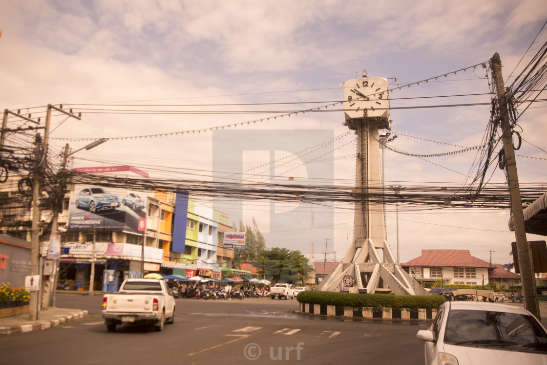 """THAILAND BURIRAM CITY CENTRE CLOCK TOWER"" stock image"