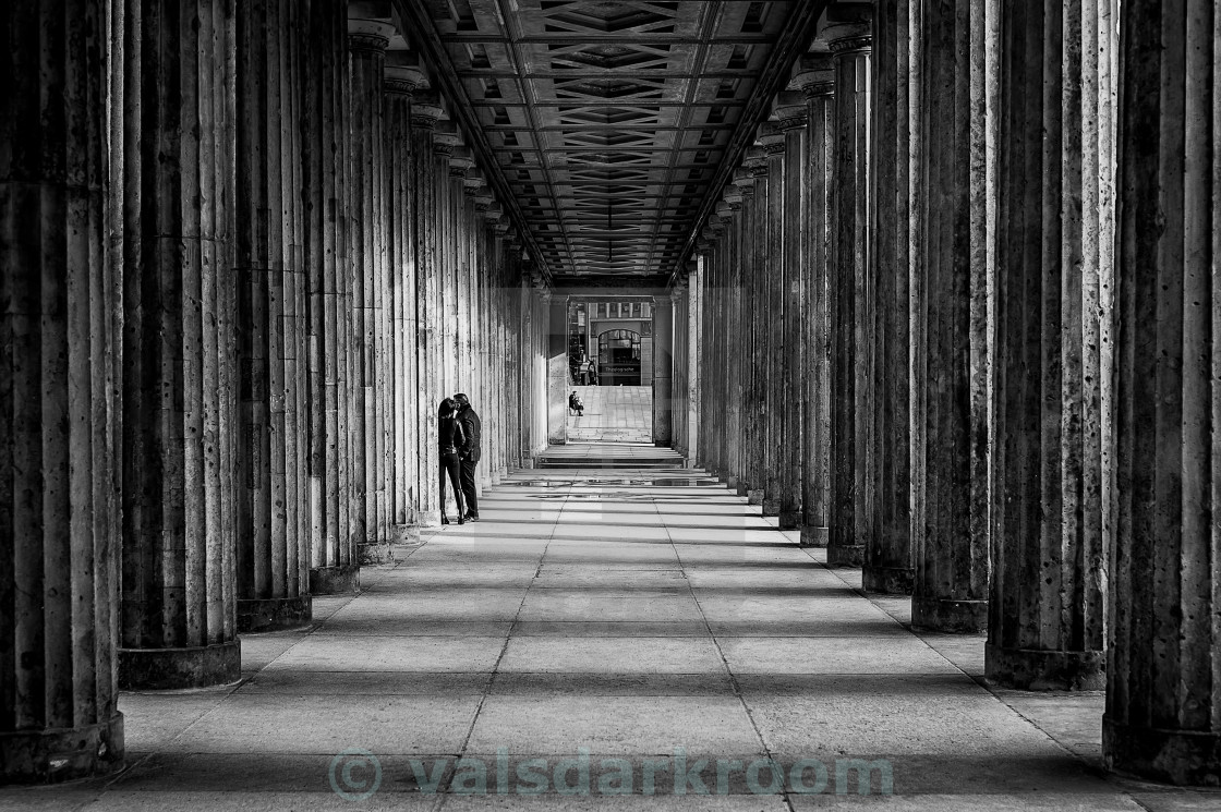 """Hiding in Berlin..."" stock image"