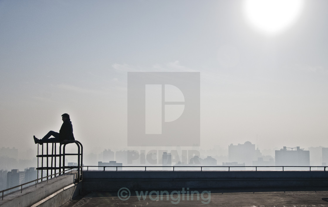"""top of the city"" stock image"
