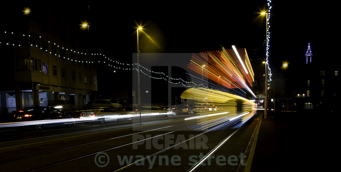 """Blackpool tram."" stock image"