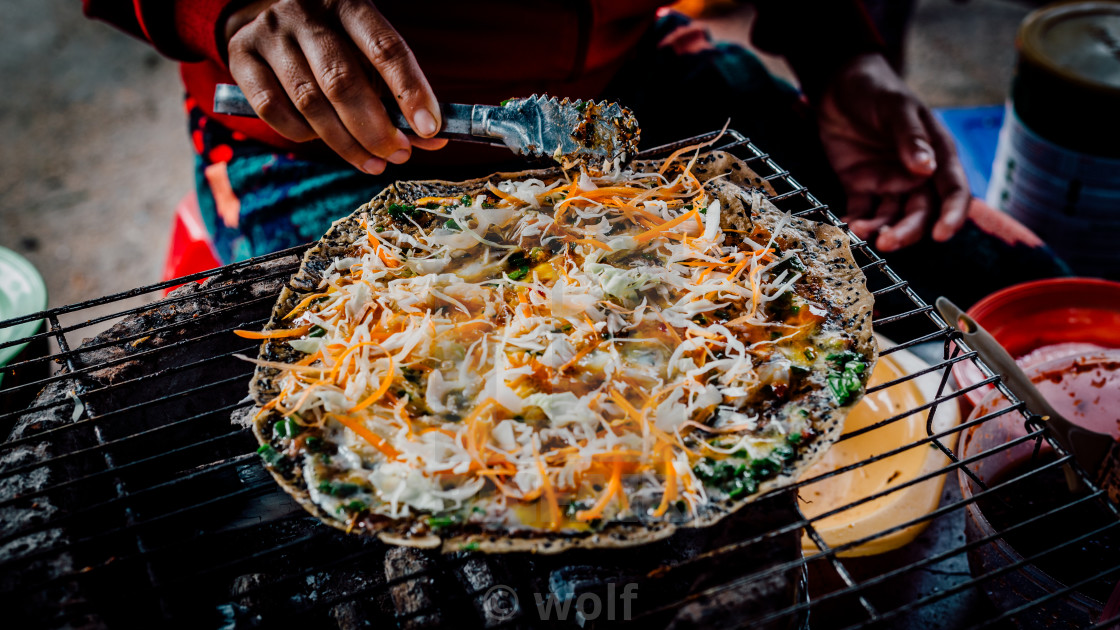 """Vietnamese pizza"" stock image"