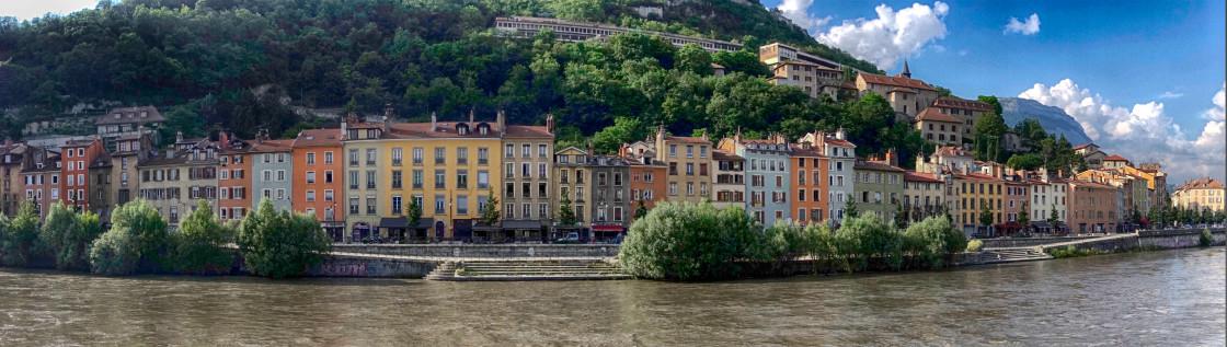 """""""Grenoble, FR, Isere River"""" stock image"""