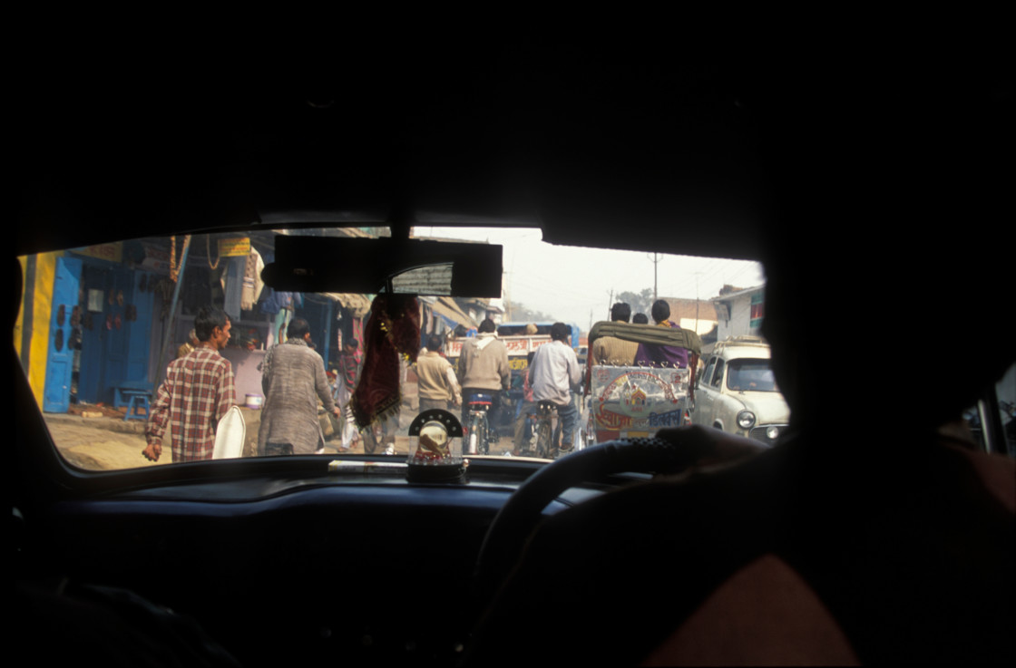 """""""Taxi ride, India-65509"""" stock image"""