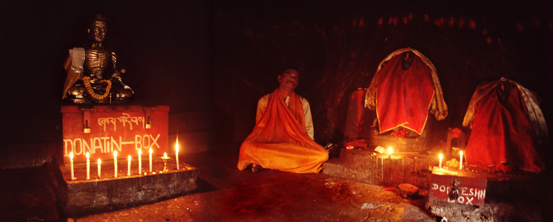 """Cave where Buddha practiced asceticism, near Bodhgaya, India"" stock image"
