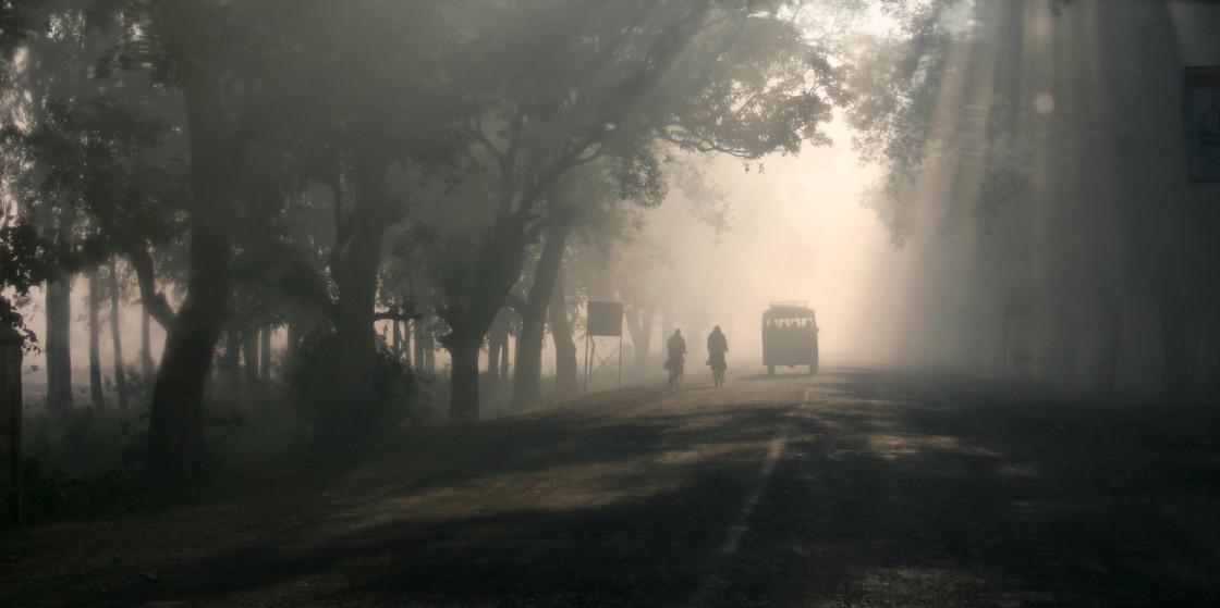"""Road to Kapalavastu, India"" stock image"
