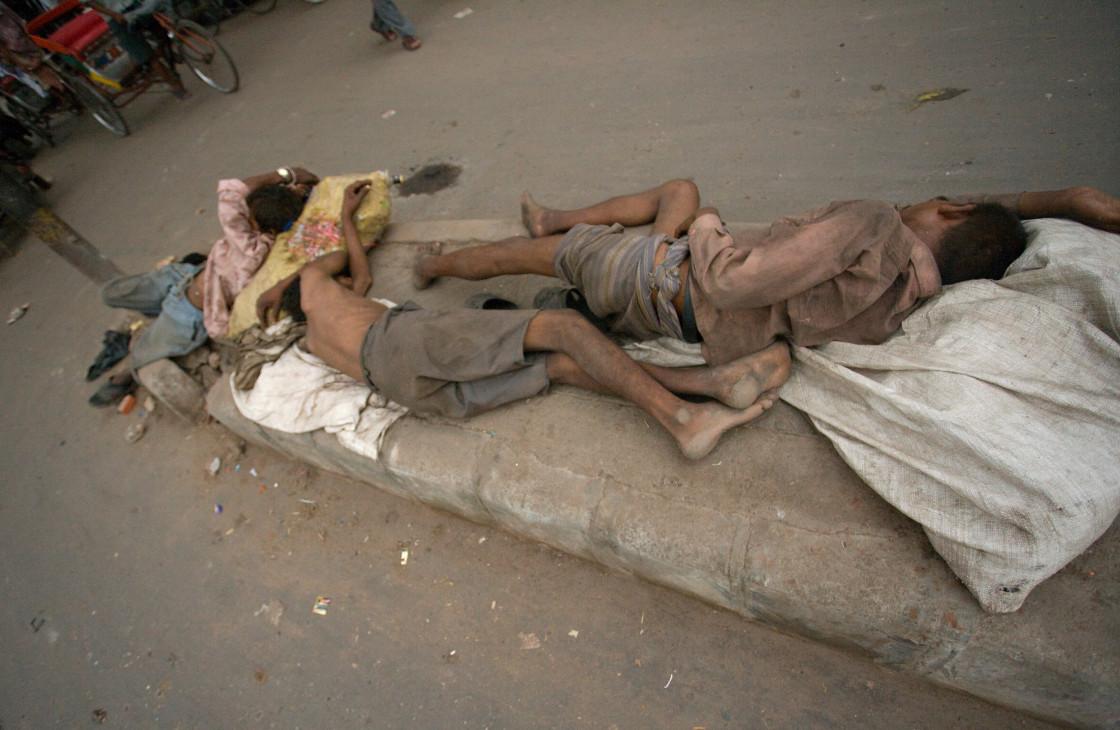 """""""Homeless, Old Delhi_G3T7384"""" stock image"""