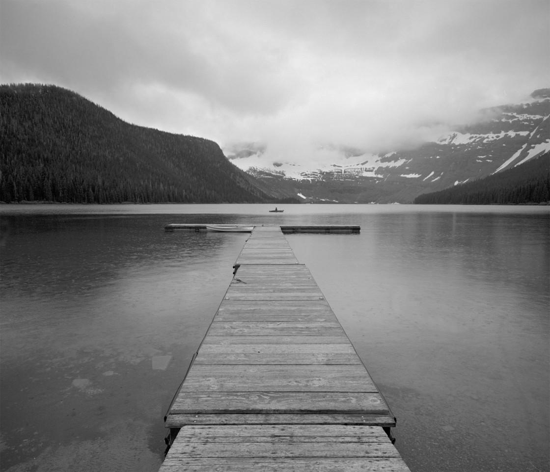 """Dock on lake, Canada."" stock image"