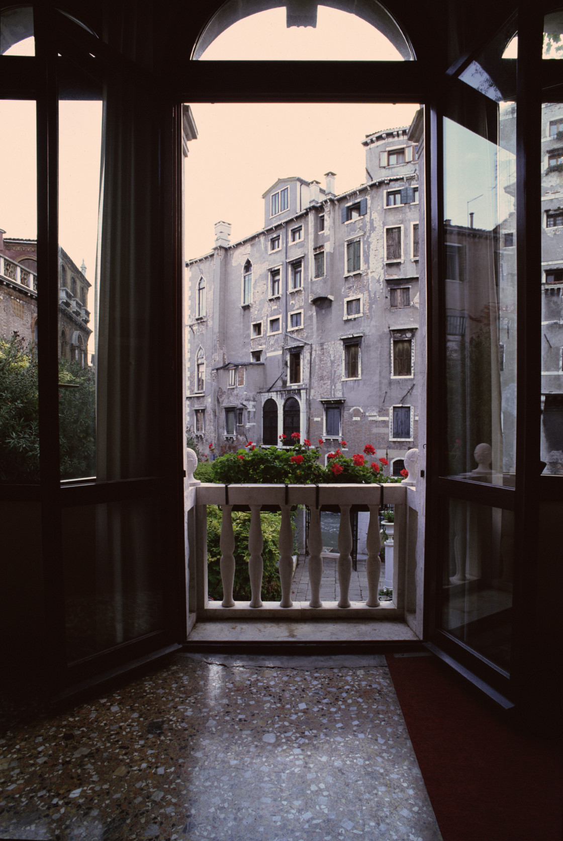 """Hotel Window, Venice, Italy"" stock image"
