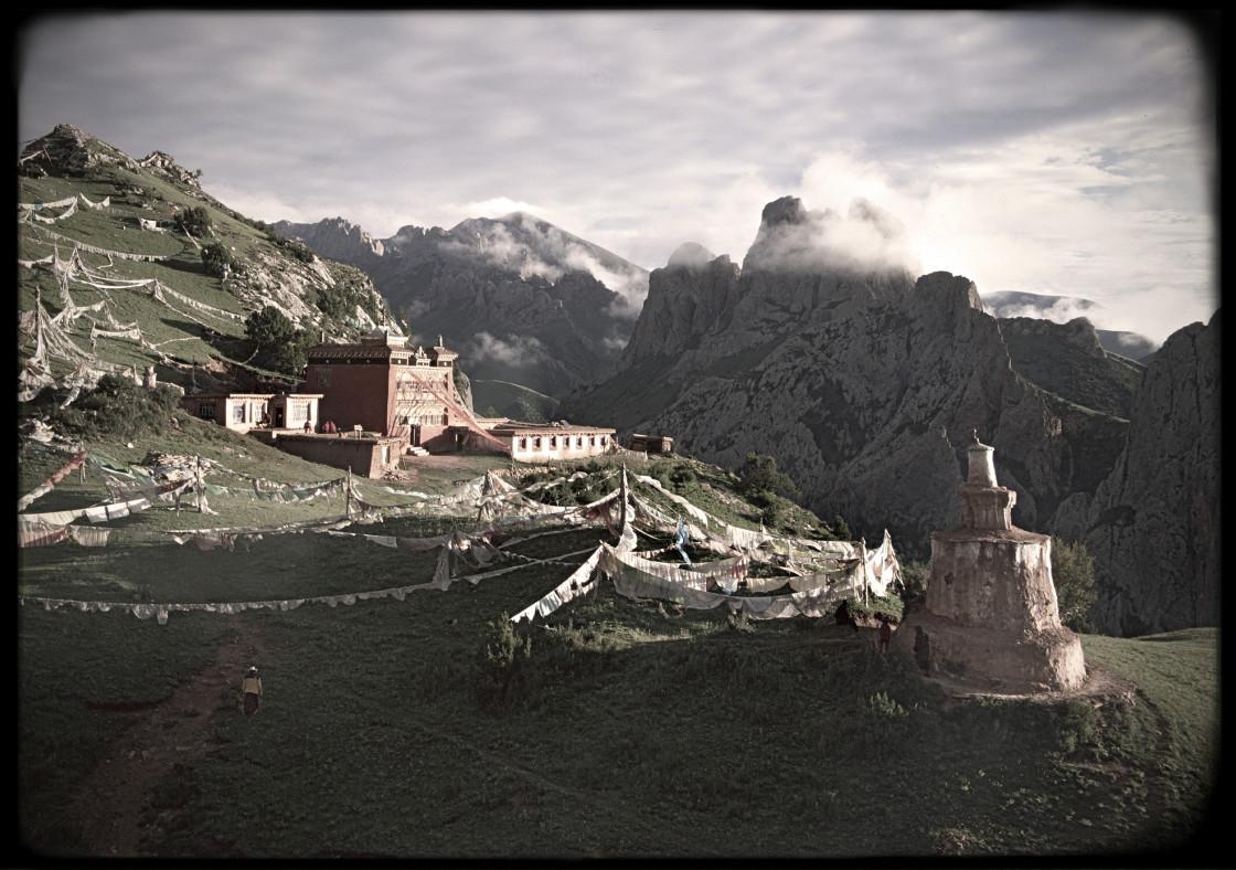 """Fortres Peak, Dzongoling, Tibet"" stock image"