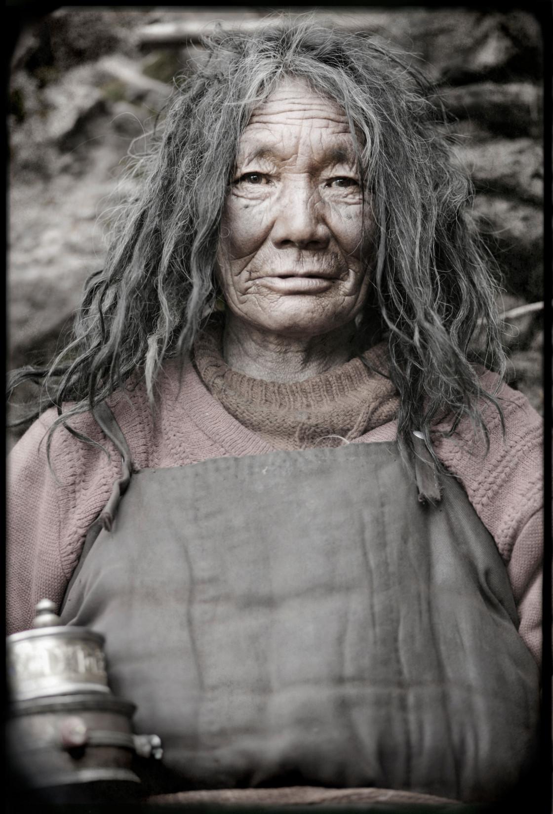 """Minjur Yogini, Dechen Ling, Getchok nunnery, Tibet"" stock image"