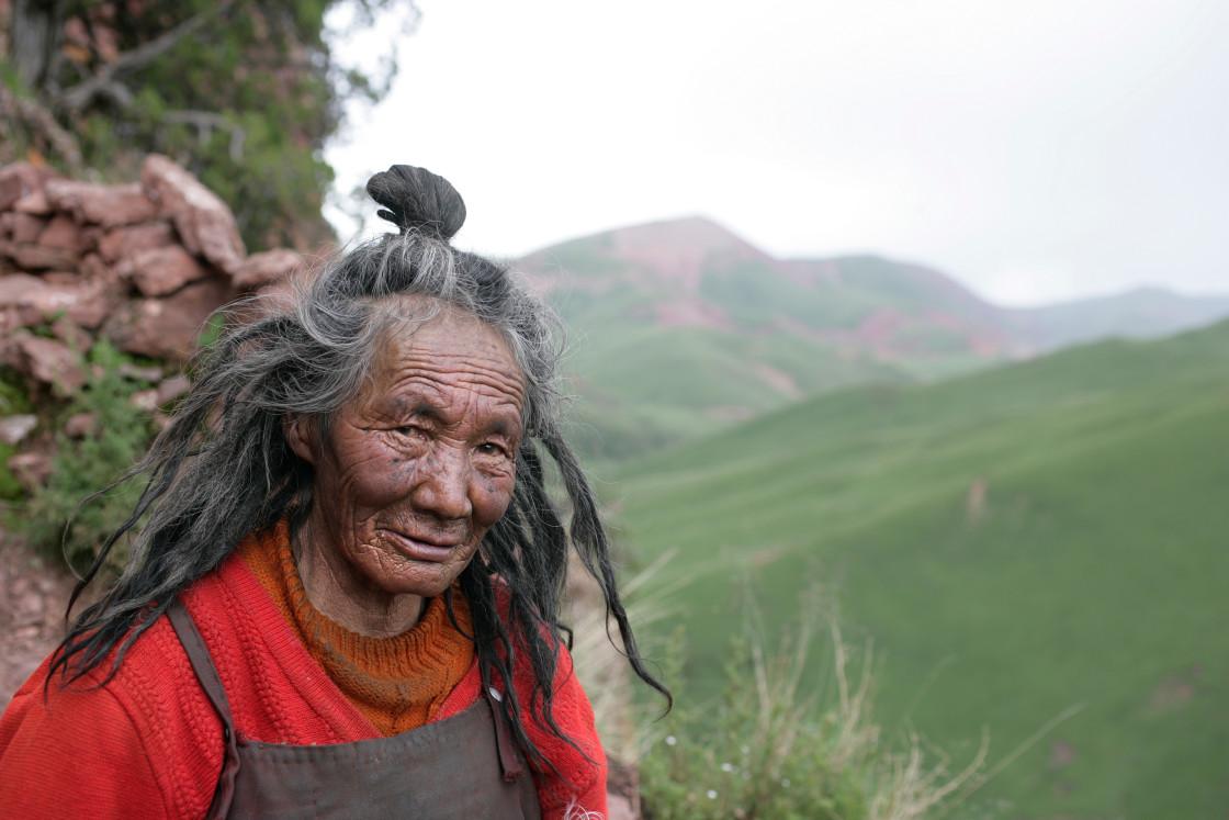 """Minjur Yogini, Dechen Ling nunnery, Tibet"" stock image"
