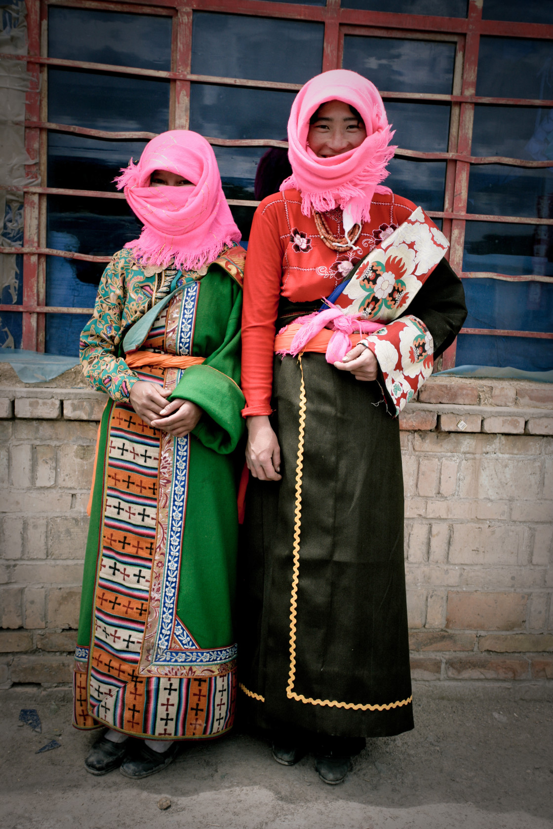 """Muslim women, Kham, Tibet"" stock image"