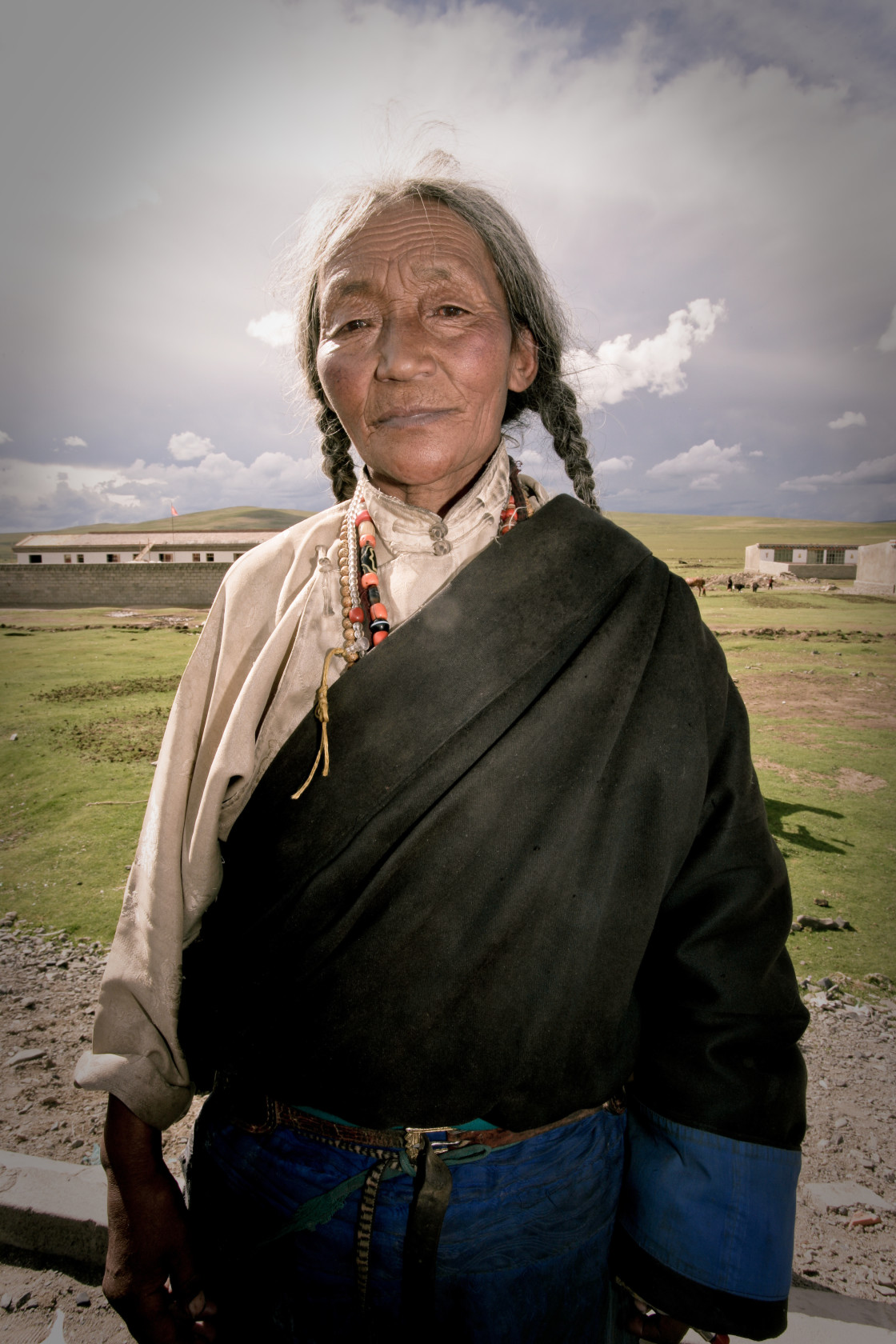 """Nomad Woman, Nangchen, Tibet"" stock image"