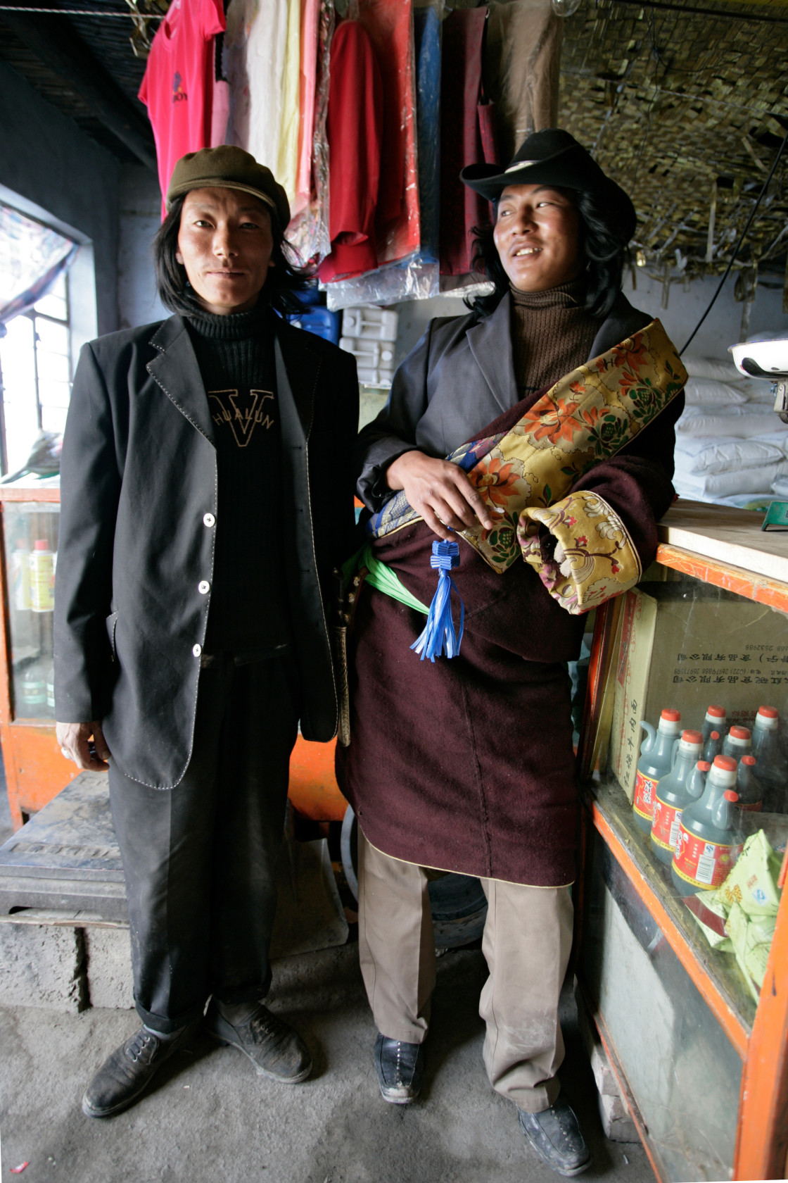 """Two Khampa Men"" stock image"