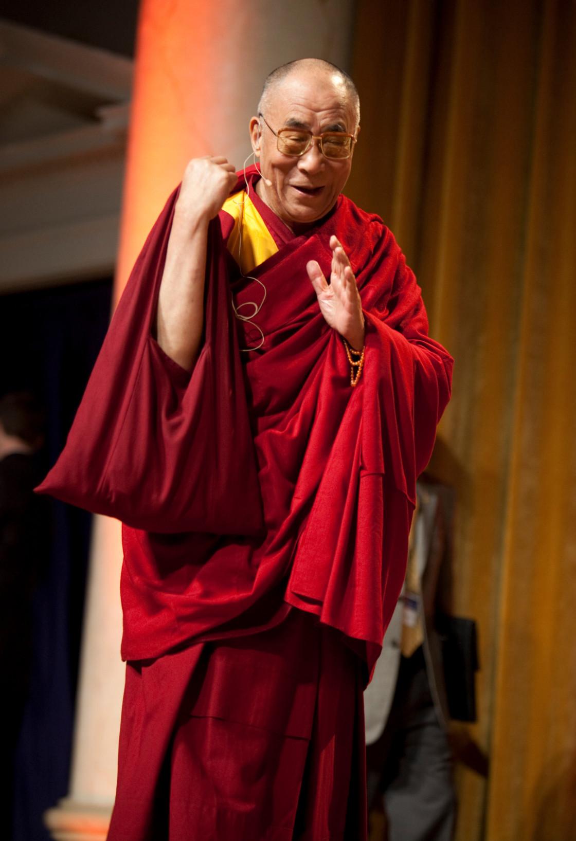 """""""HH 17th Dalai Lama, Mind & Life XIX"""" stock image"""