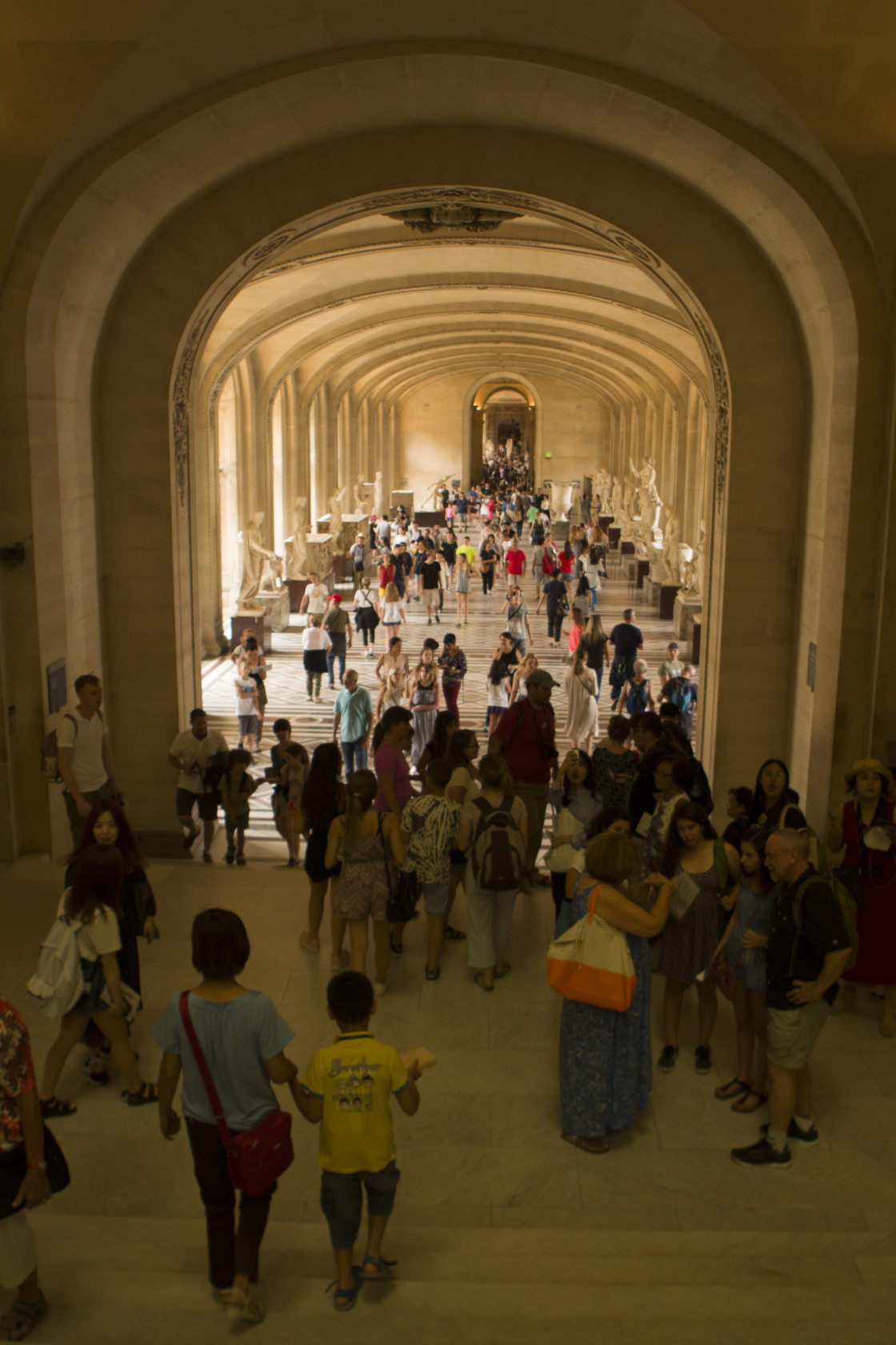 """Hallway in Louvre, Paris, France"" stock image"