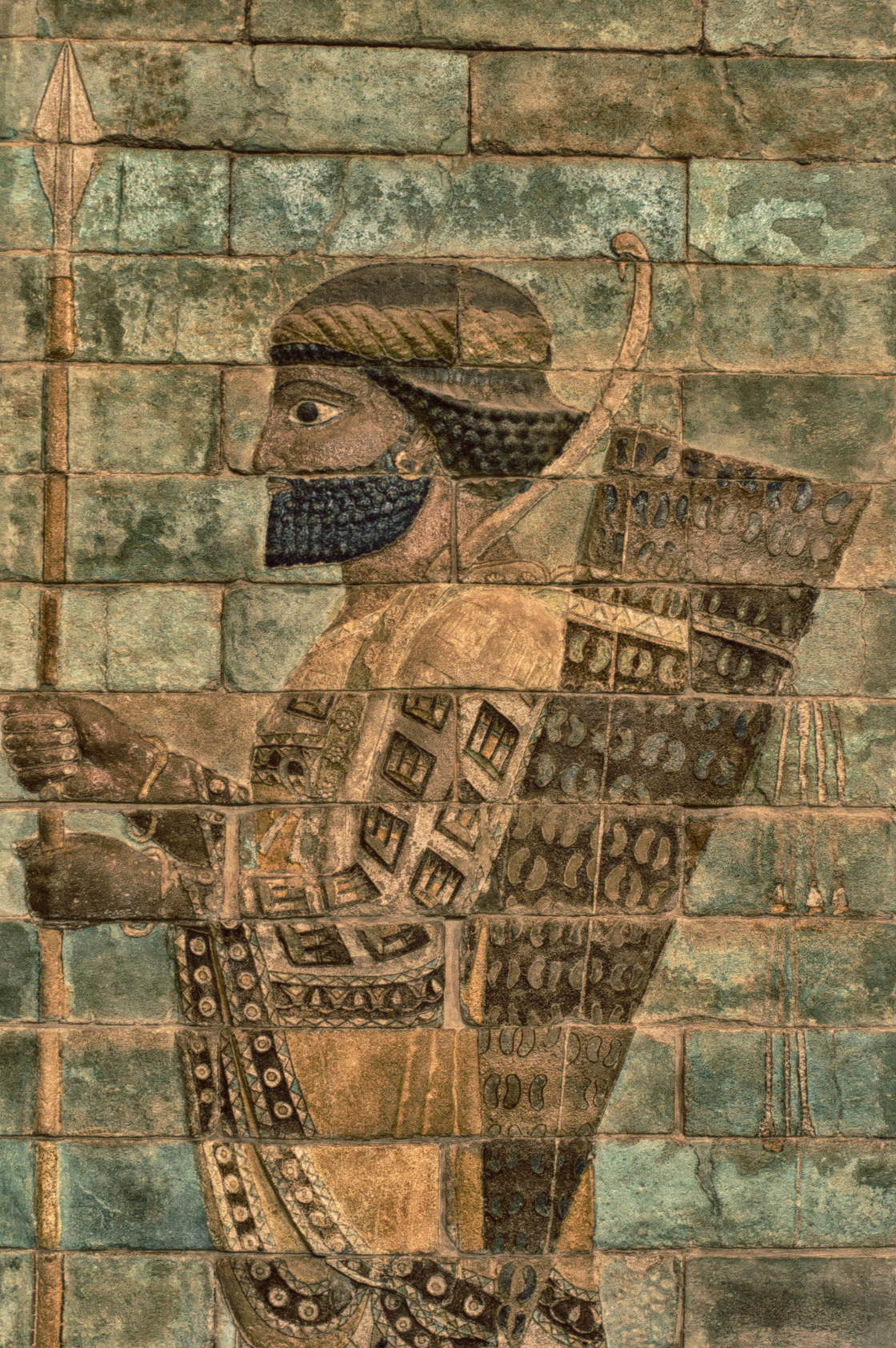 """Persian warrior, Louvre, Paris"" stock image"