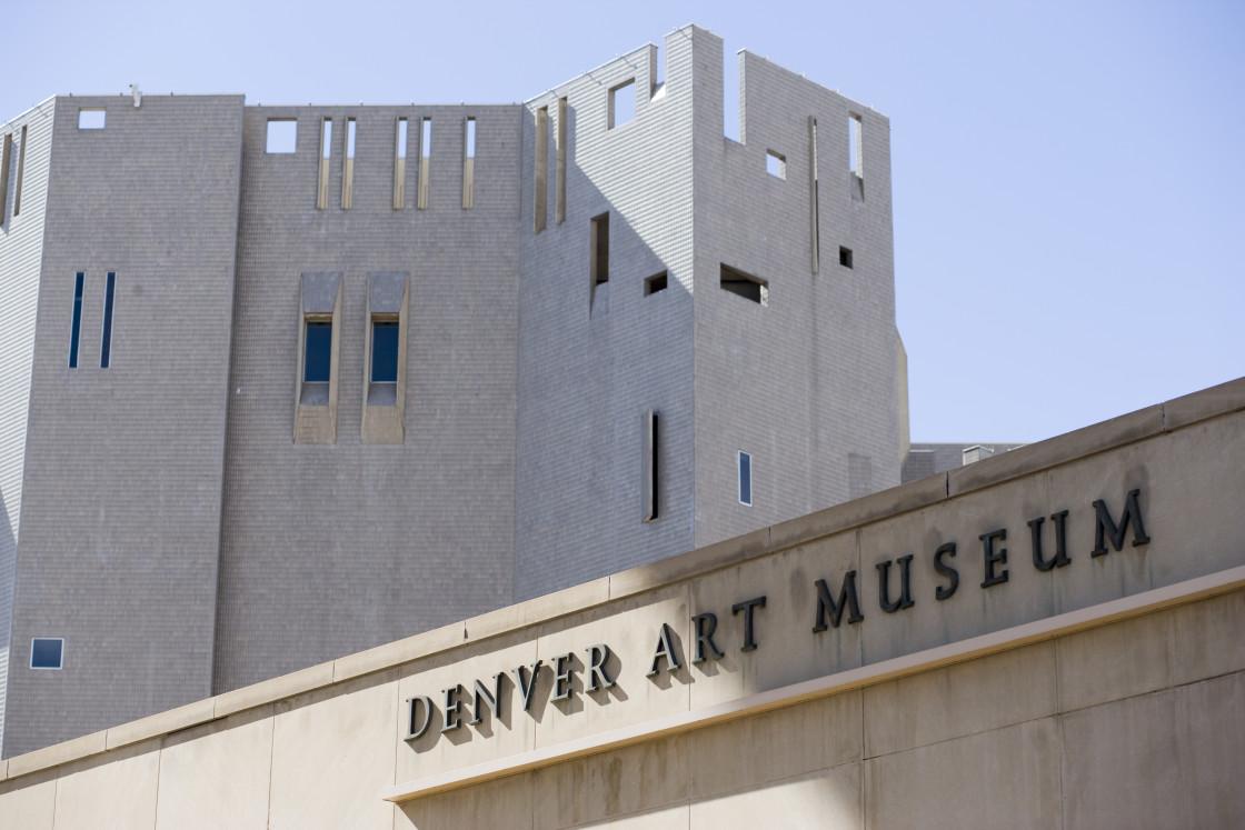 """Denver Art Museum"" stock image"