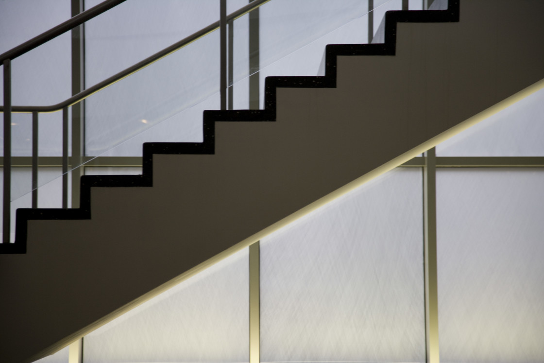 """Stairs, MOMA"" stock image"