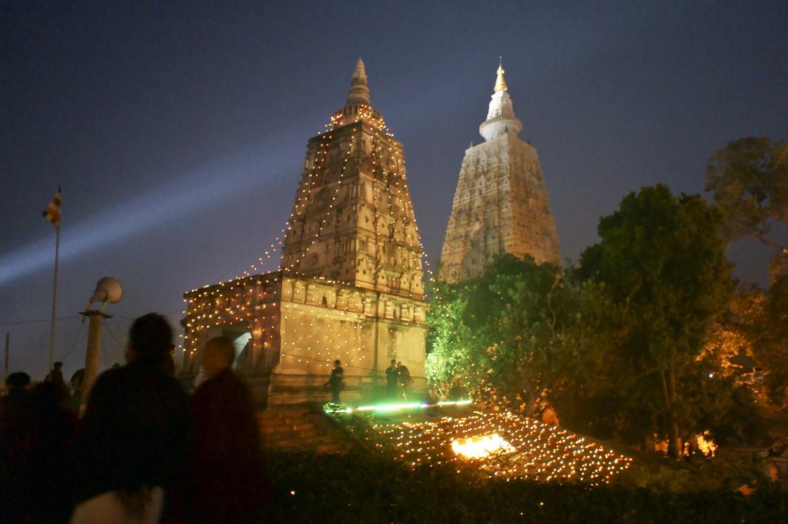 """""""Mahabodhi temple, Bodhgaya, India"""" stock image"""