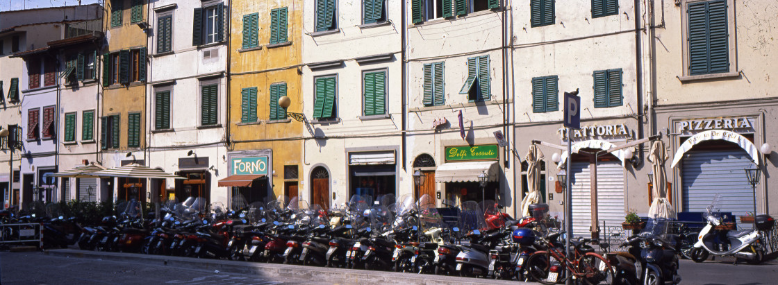 """Motorcycles, Florence, Italy"" stock image"