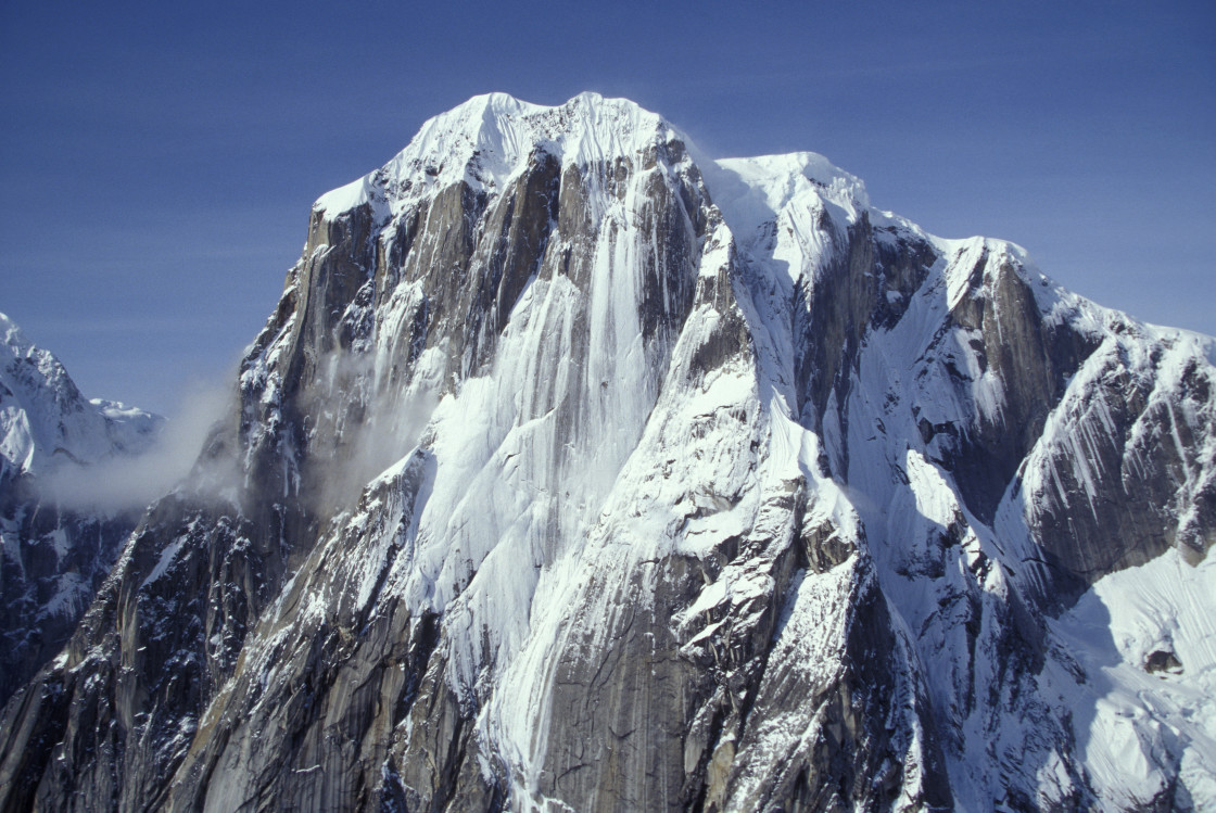 """Mountain Peak, Denali-55998"" stock image"
