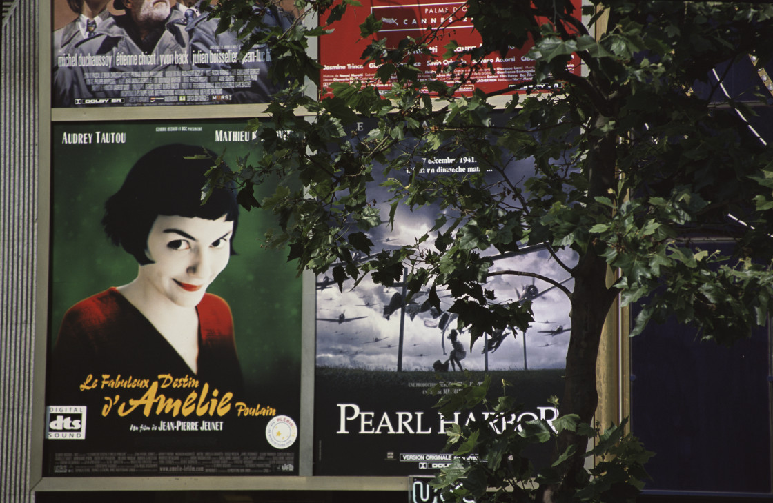 """Movie poster, Paris, France"" stock image"