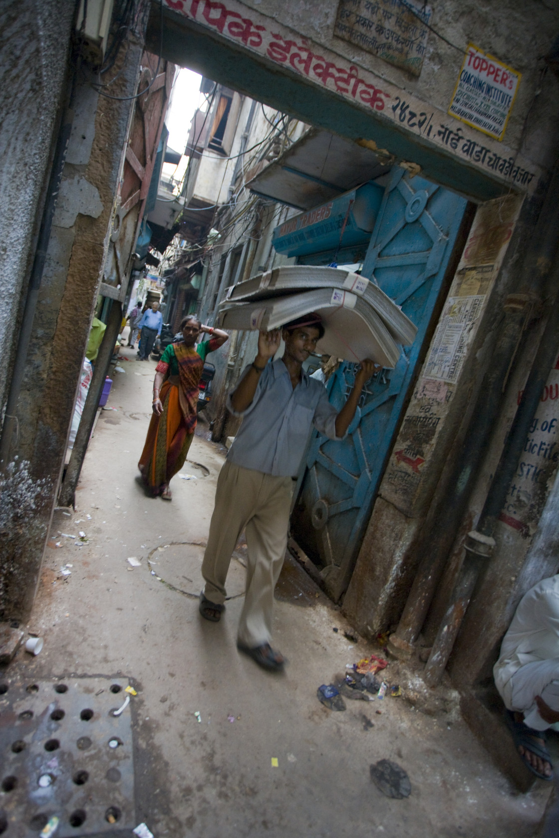 """Paper carrier, Old Delhi, India_G3T7362"" stock image"