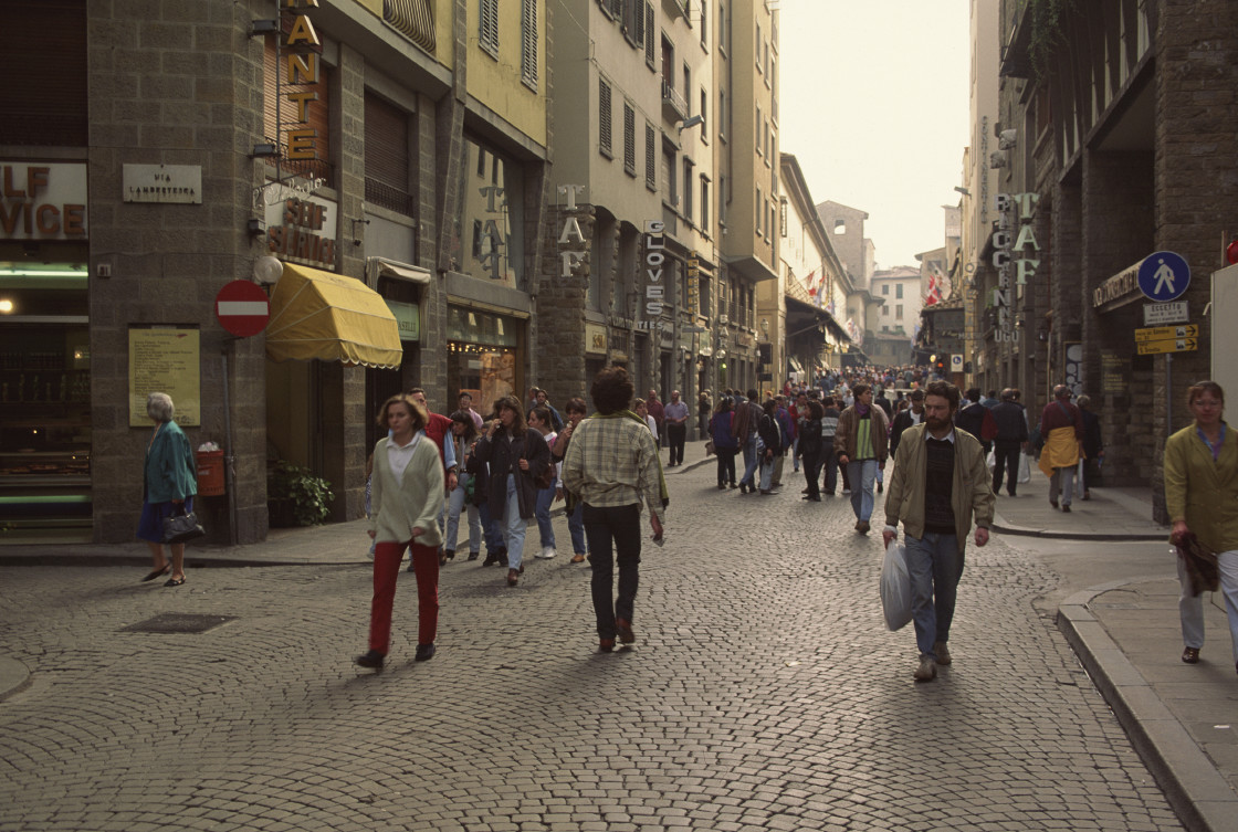 """Shopping district, Florence, Italy"" stock image"