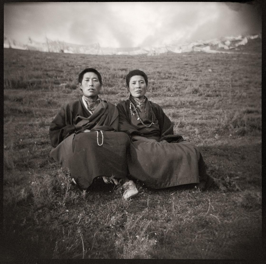 """Monks and nuns and Kampa people of Nangchen Tibet , China"" stock image"