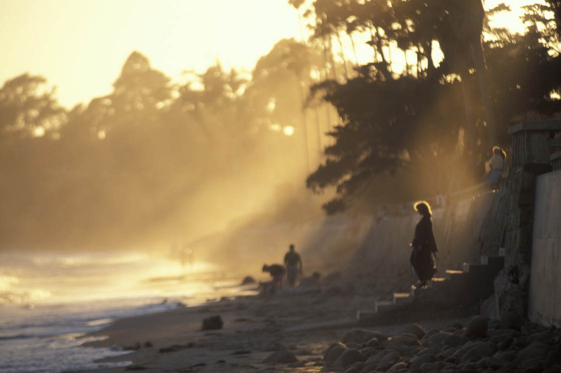 """Woman on beach"" stock image"