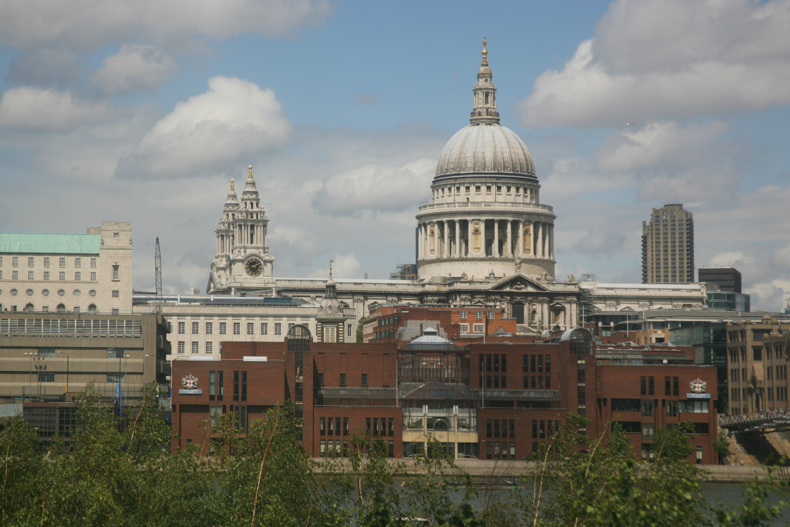 """""""St Pauls from Tate, London"""" stock image"""