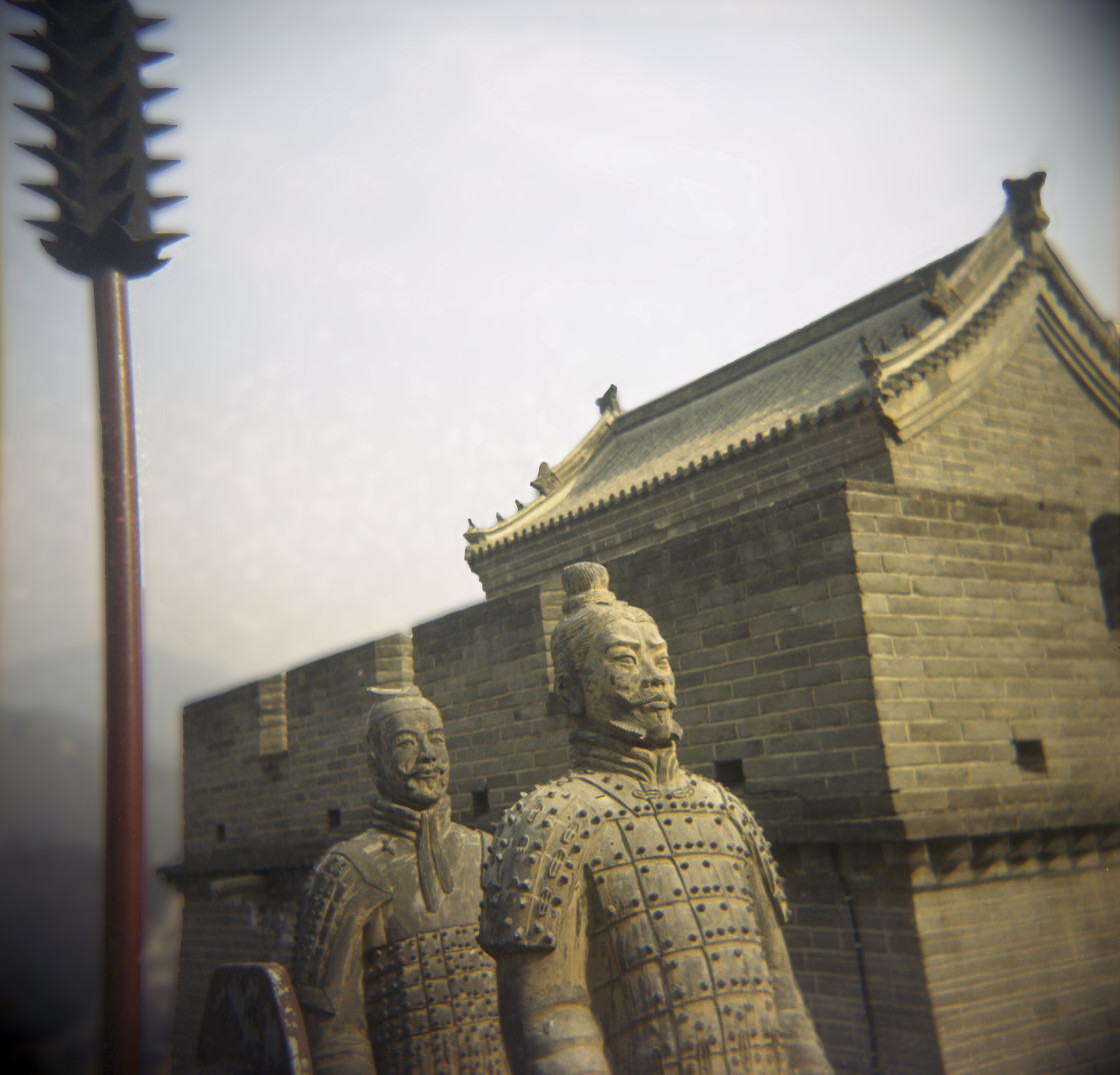 """Terracotta warriors, Great Wall, China"" stock image"
