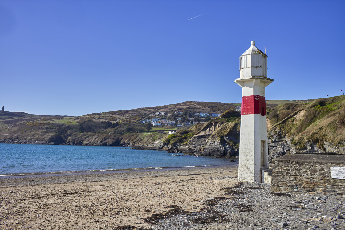"""""""The lighthouse at Port Erin"""" stock image"""