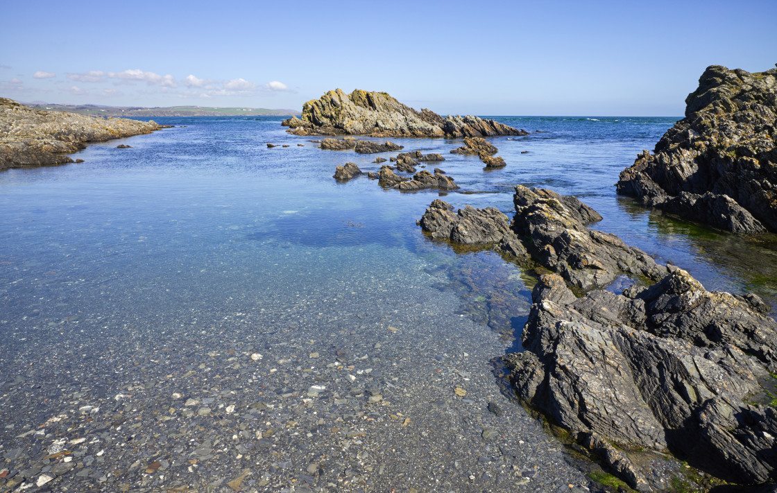 """""""The very clear water Isle of Man"""" stock image"""