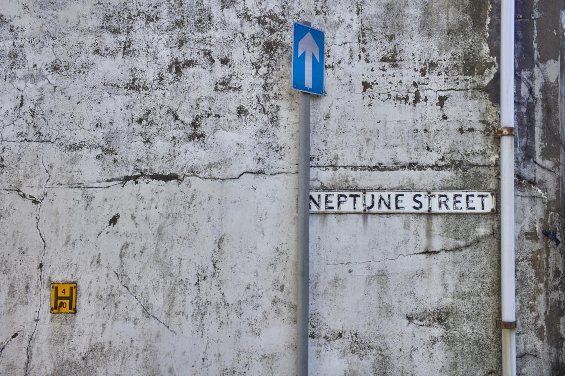 """Neptune Street, Ramsey, Isle of Man"" stock image"
