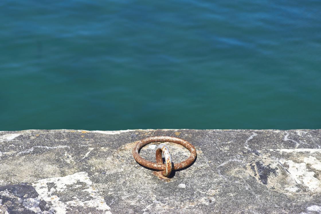 """""""Metal mooring ring"""" stock image"""