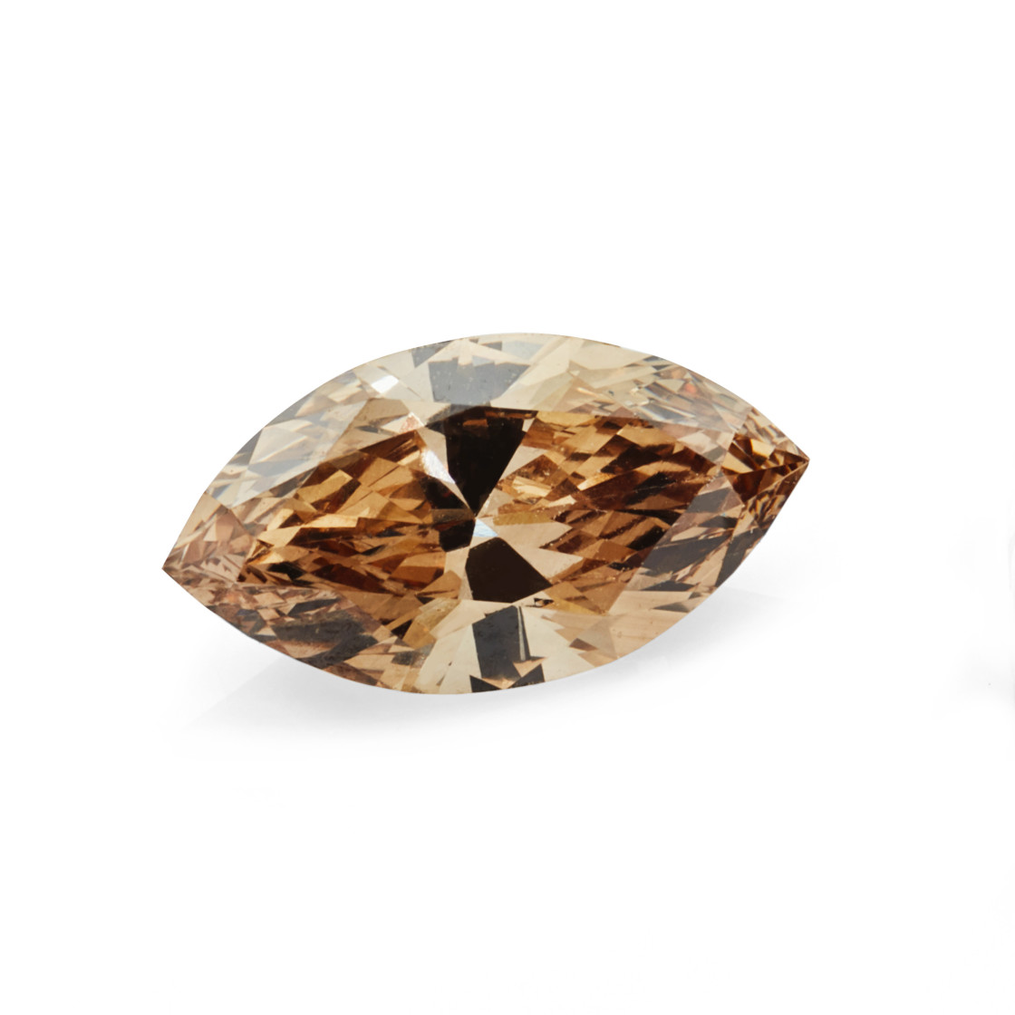 """0.88 carat brown marquise cut diamond"" stock image"